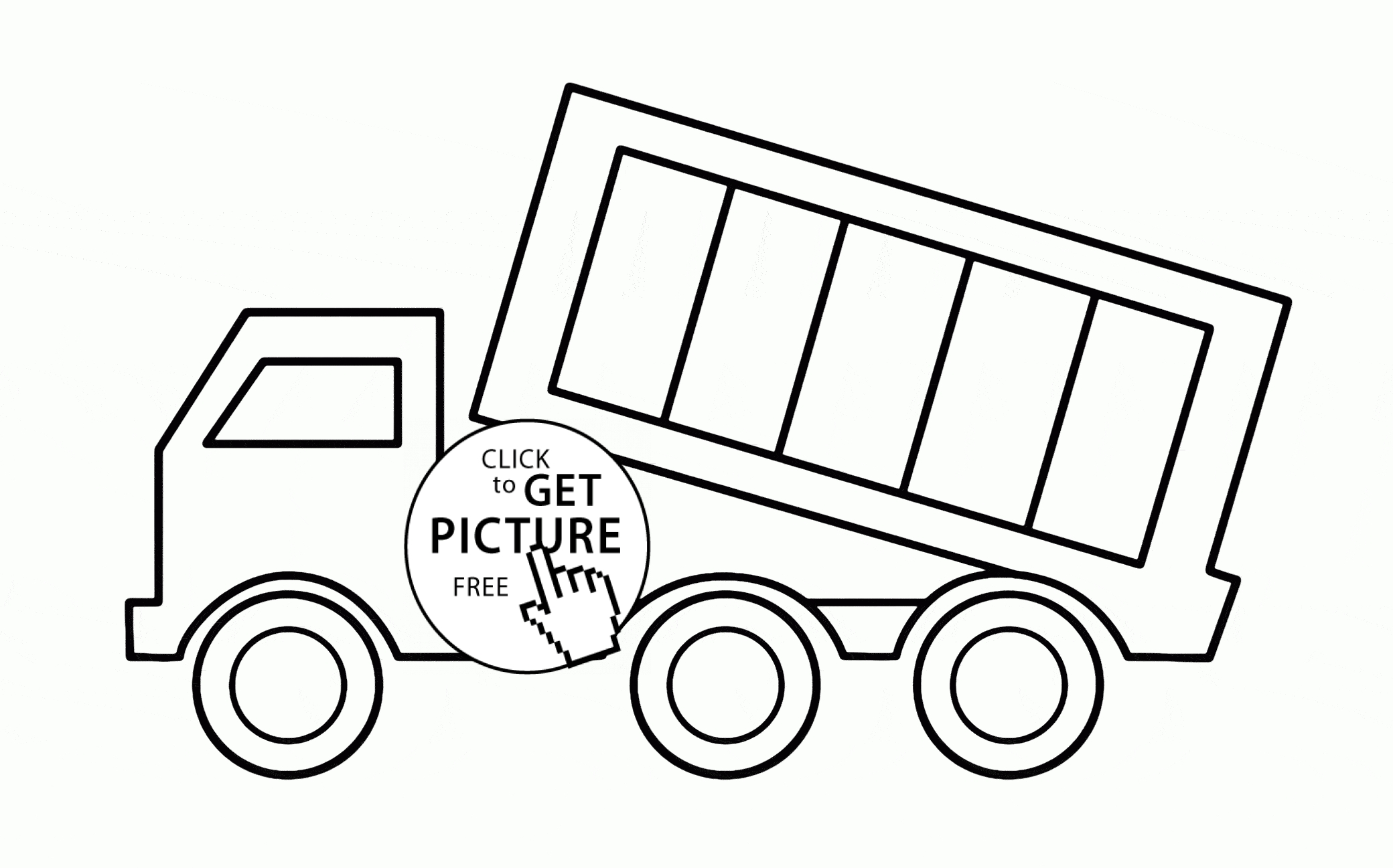 simple coloring pages - simple dump truck coloring page for toddlers transportation coloring pages printables free