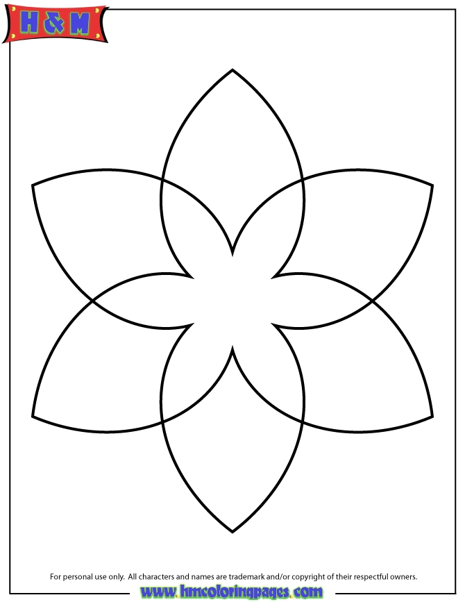 simple coloring pages - simple mandala for kids