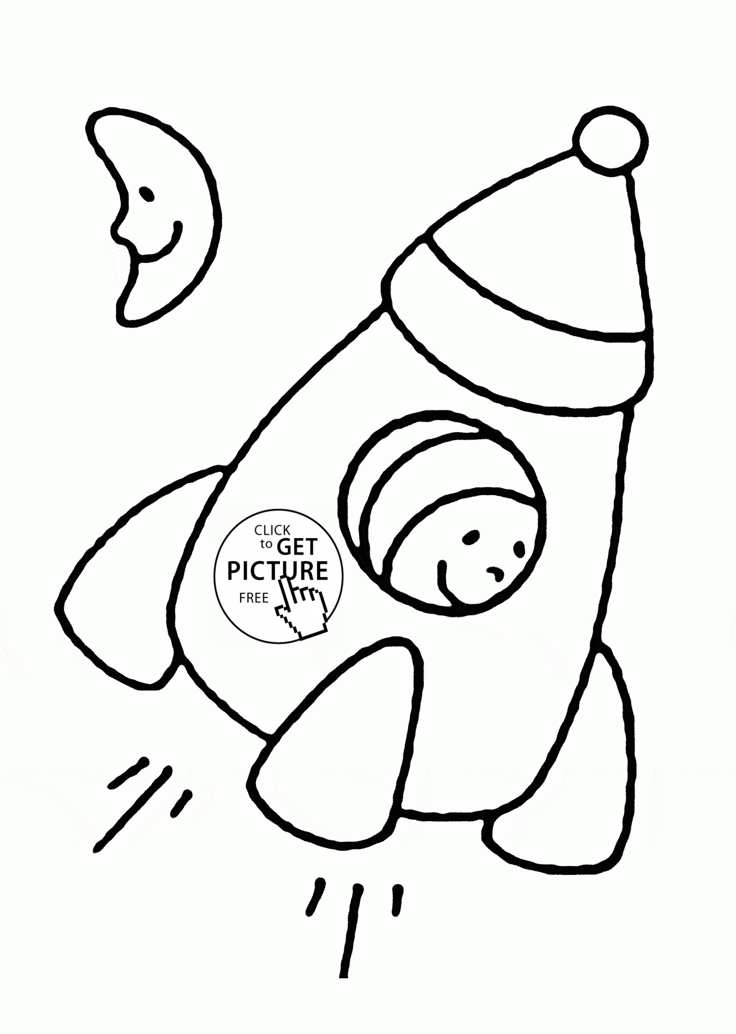 simple coloring pages - simple rocket coloring page for toddlers transportation coloring pages printables free
