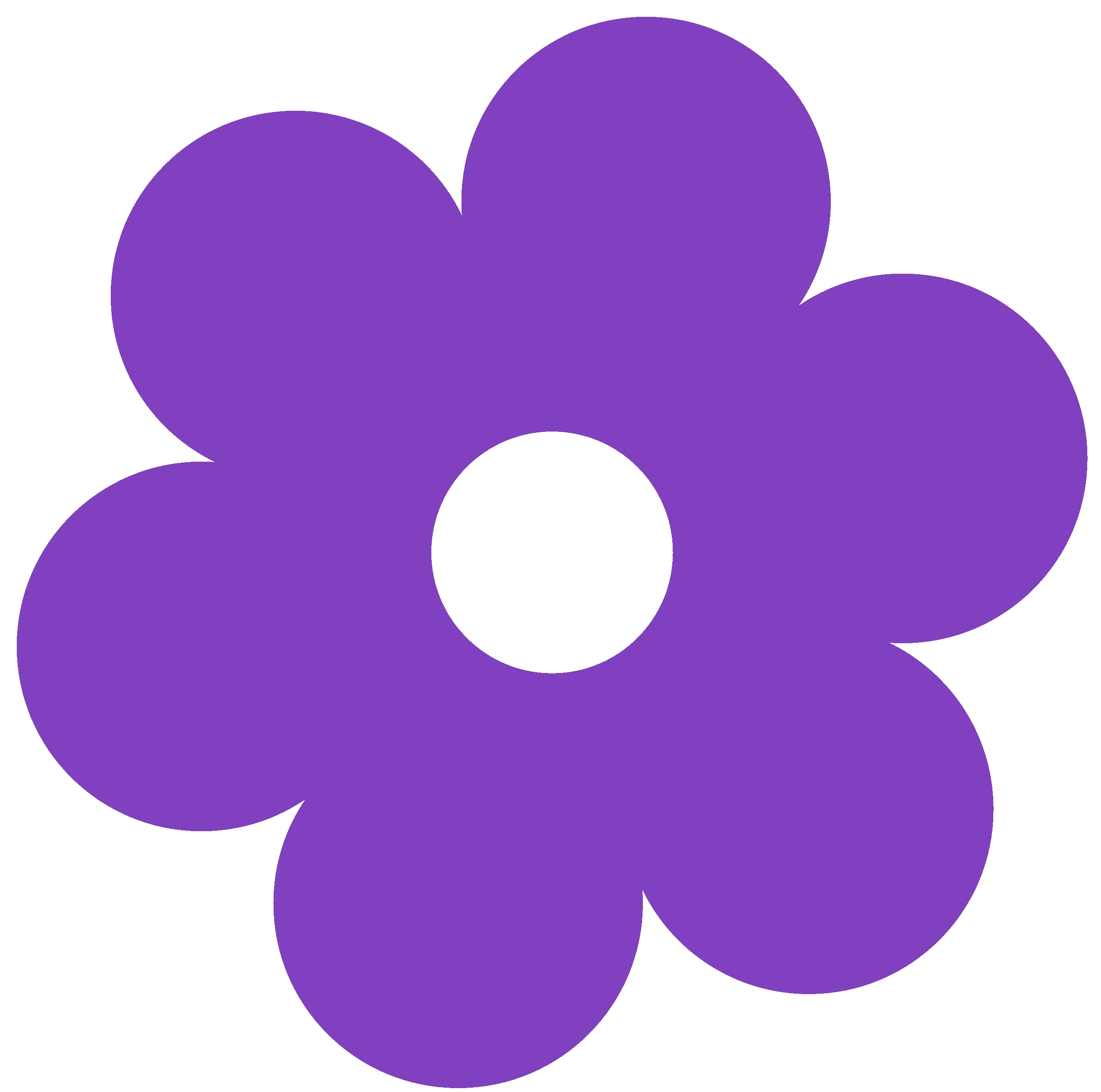 simple flower coloring pages - simple flower clipart