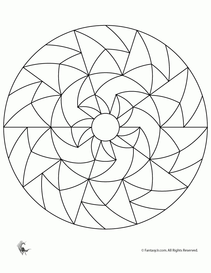 27 Simple Mandala Coloring Pages Compilation | FREE COLORING ...