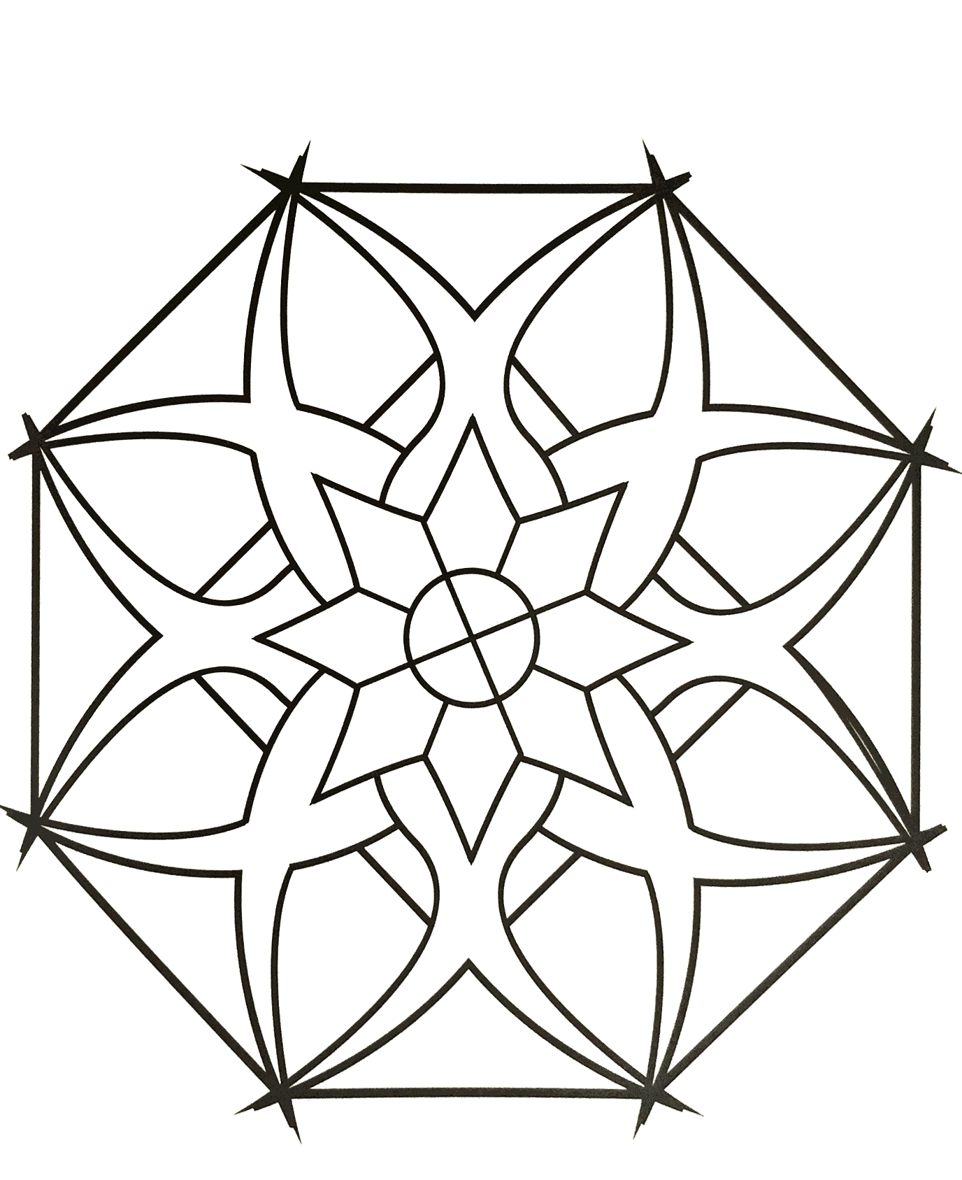 27 Simple Mandala Coloring Pages Compilation | FREE COLORING PAGES ...