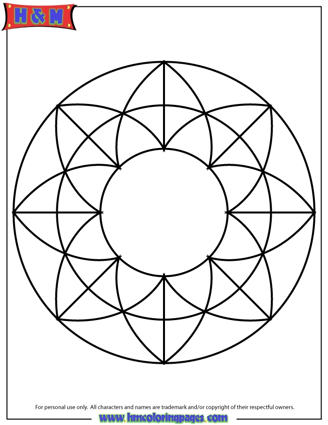 Simple Mandala Coloring Pages - Simple Pattern Mandala Coloring Page