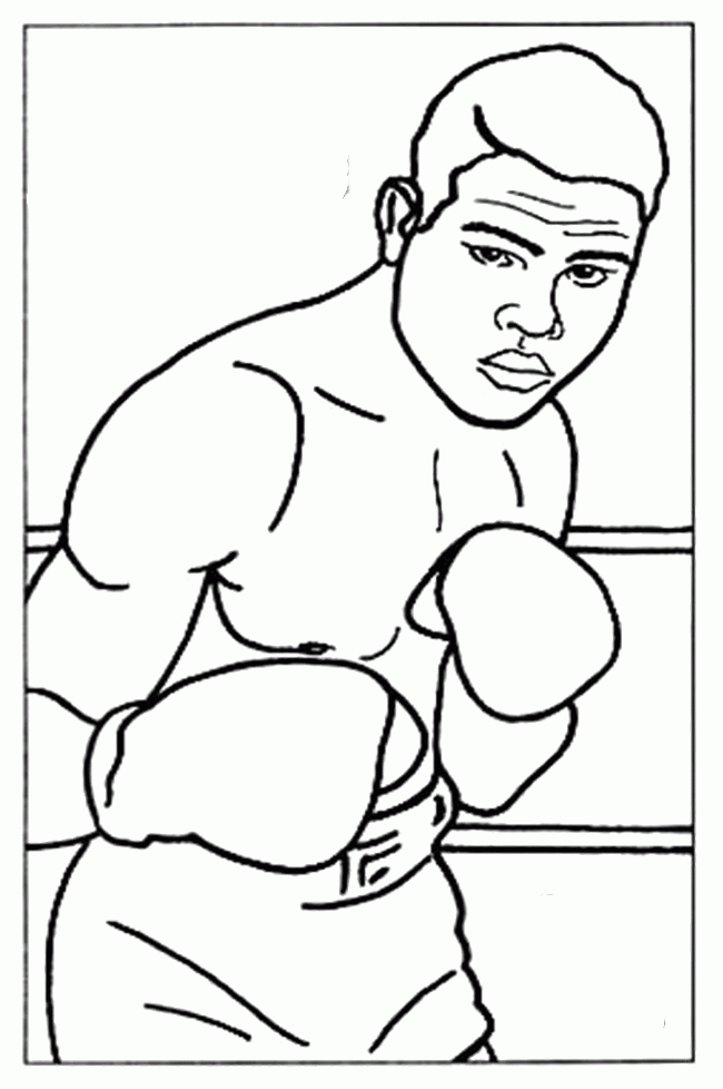 sing coloring pages - boxer coloring pages