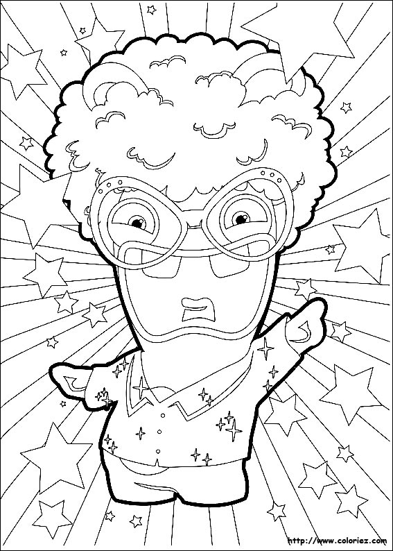 sing coloring pages - lapin disco