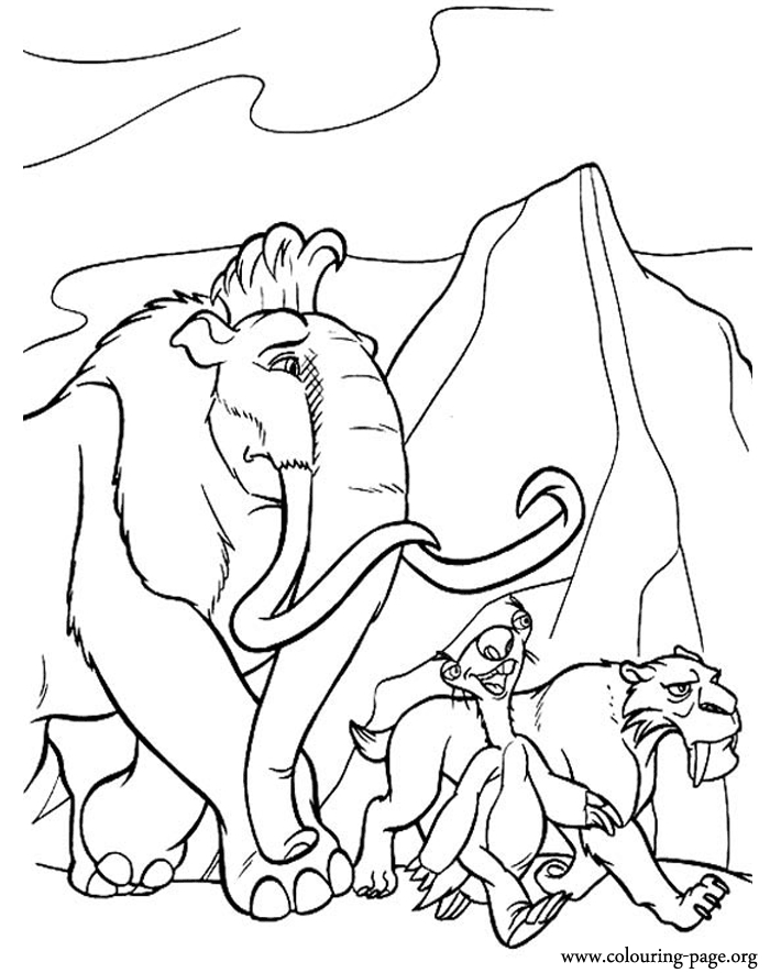 sing coloring pages - ice age 3 coloring pages free