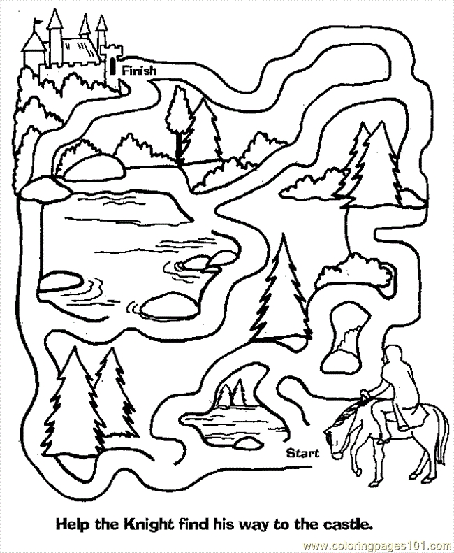 sing coloring pages - maze coloring pages