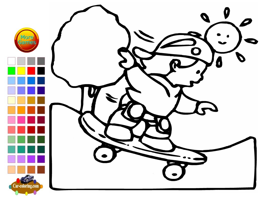 skateboard coloring page - watch v=uU0pEp8UK A