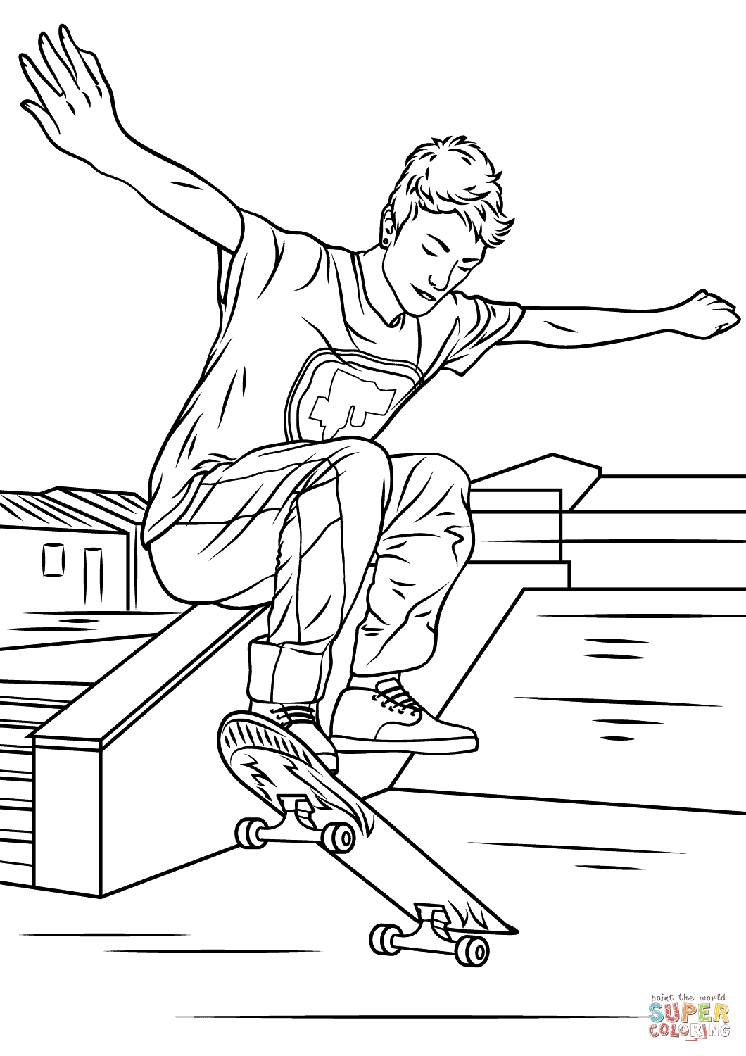 24 Skateboard Coloring Page Pictures | FREE COLORING PAGES - Part 2