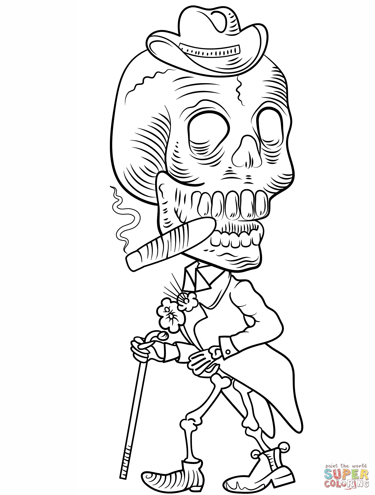 23 Skeleton Coloring Pages Compilation FREE COLORING PAGES Part 3