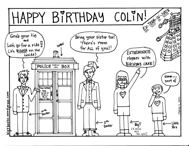 skiing coloring pages - happy birthday colin