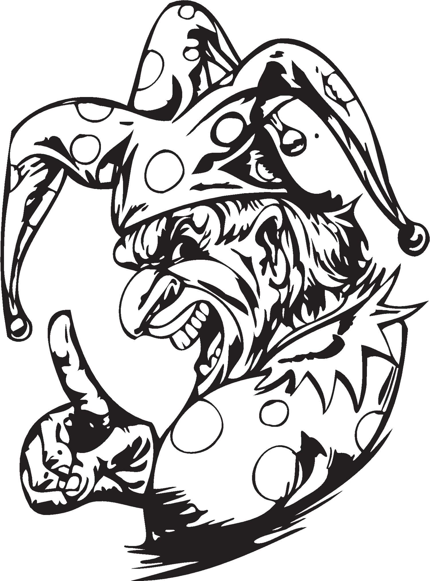 skull coloring pages for adults - clown coloring pages