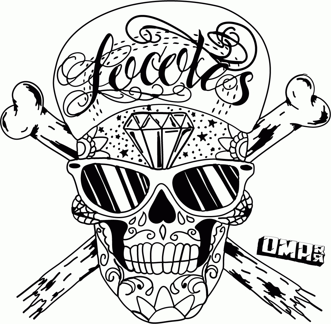 skull coloring pages for adults - skull graffiti coloring pages
