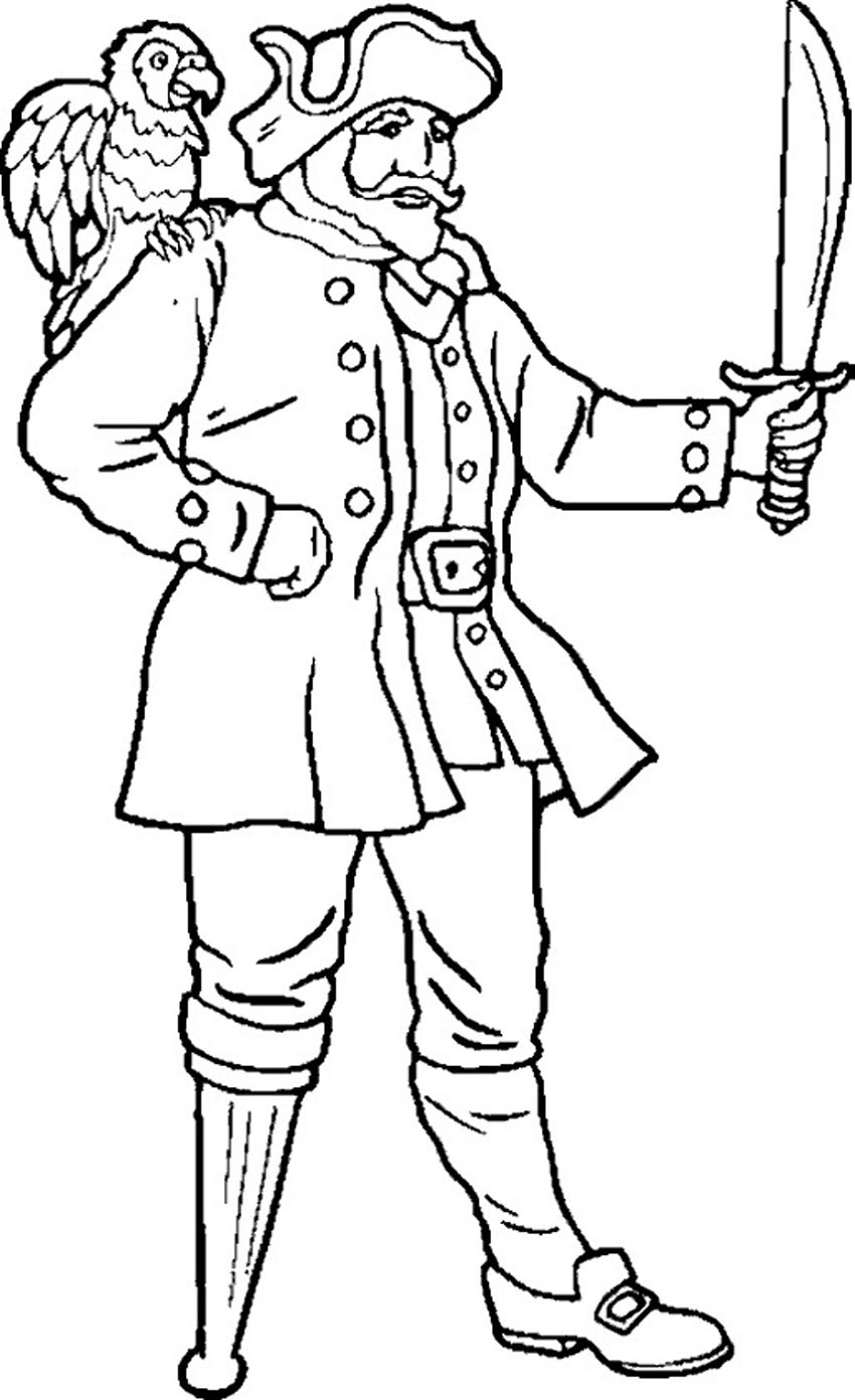 skull coloring pages - printable pirate coloring pages