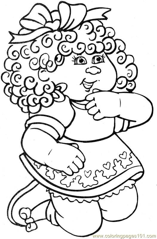 sky coloring pages - cabbage patch kids coloring pages