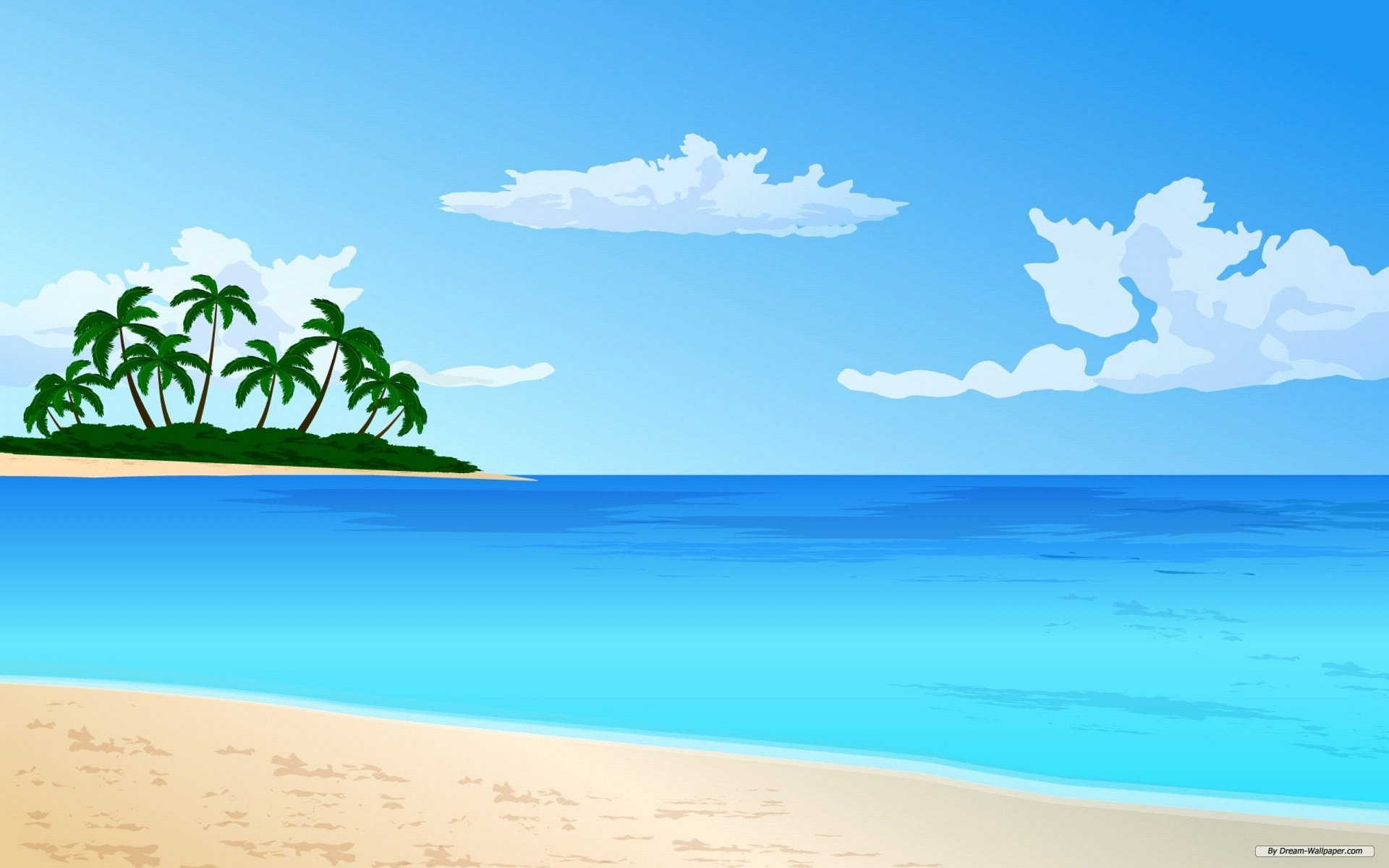 sky coloring pages - Ocean clipart beach water