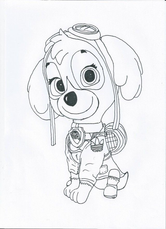 skye coloring pages - q=paw patrol symbol