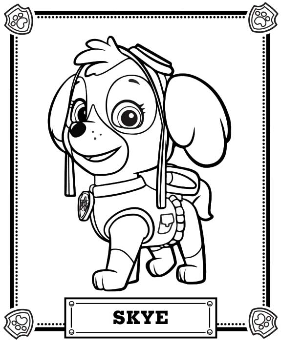 skye coloring pages - q=skye paw patrol