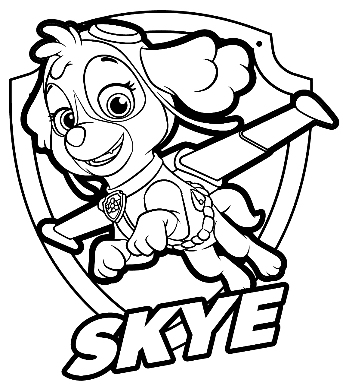 skye coloring pages -