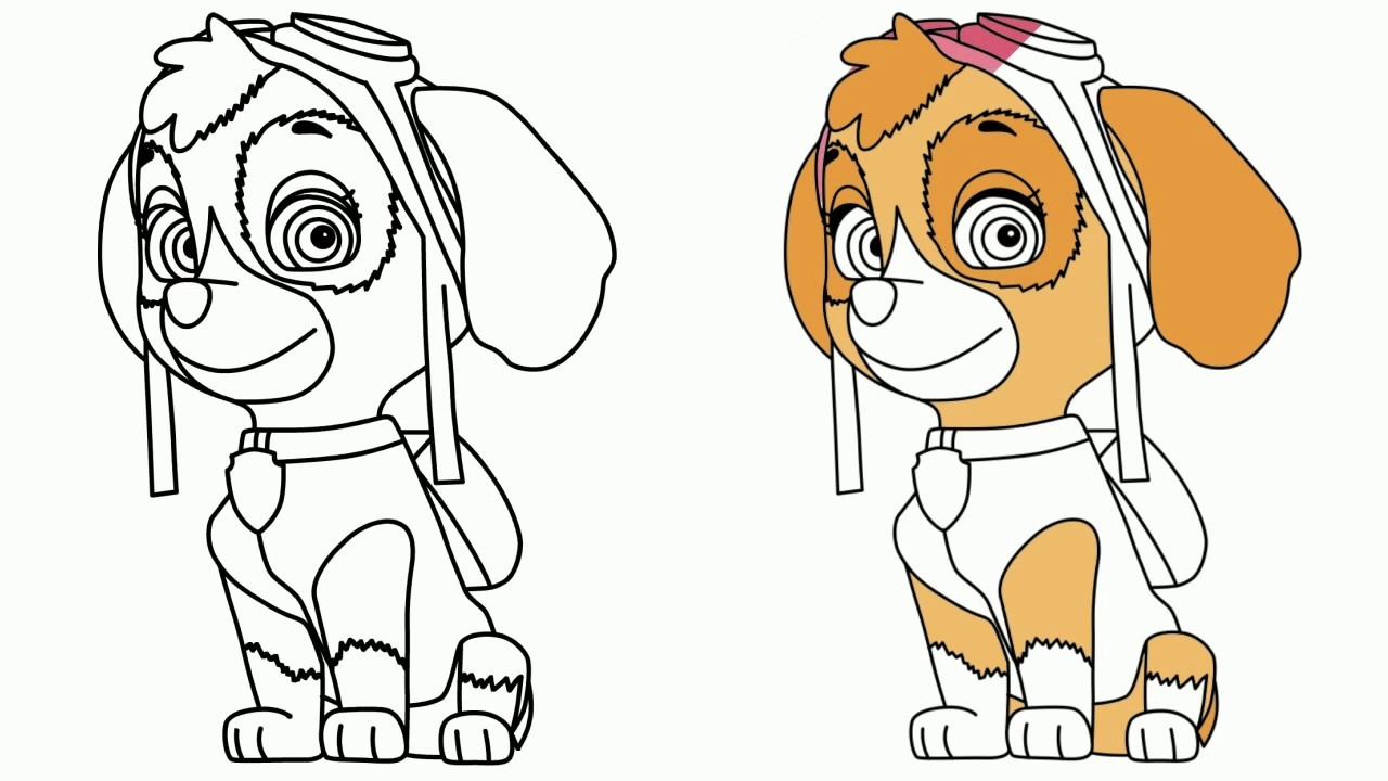 Ausmalbilder Von Paw Patrol : Polizeibeamter Patrol Malbuch Coloring Pages Download Image