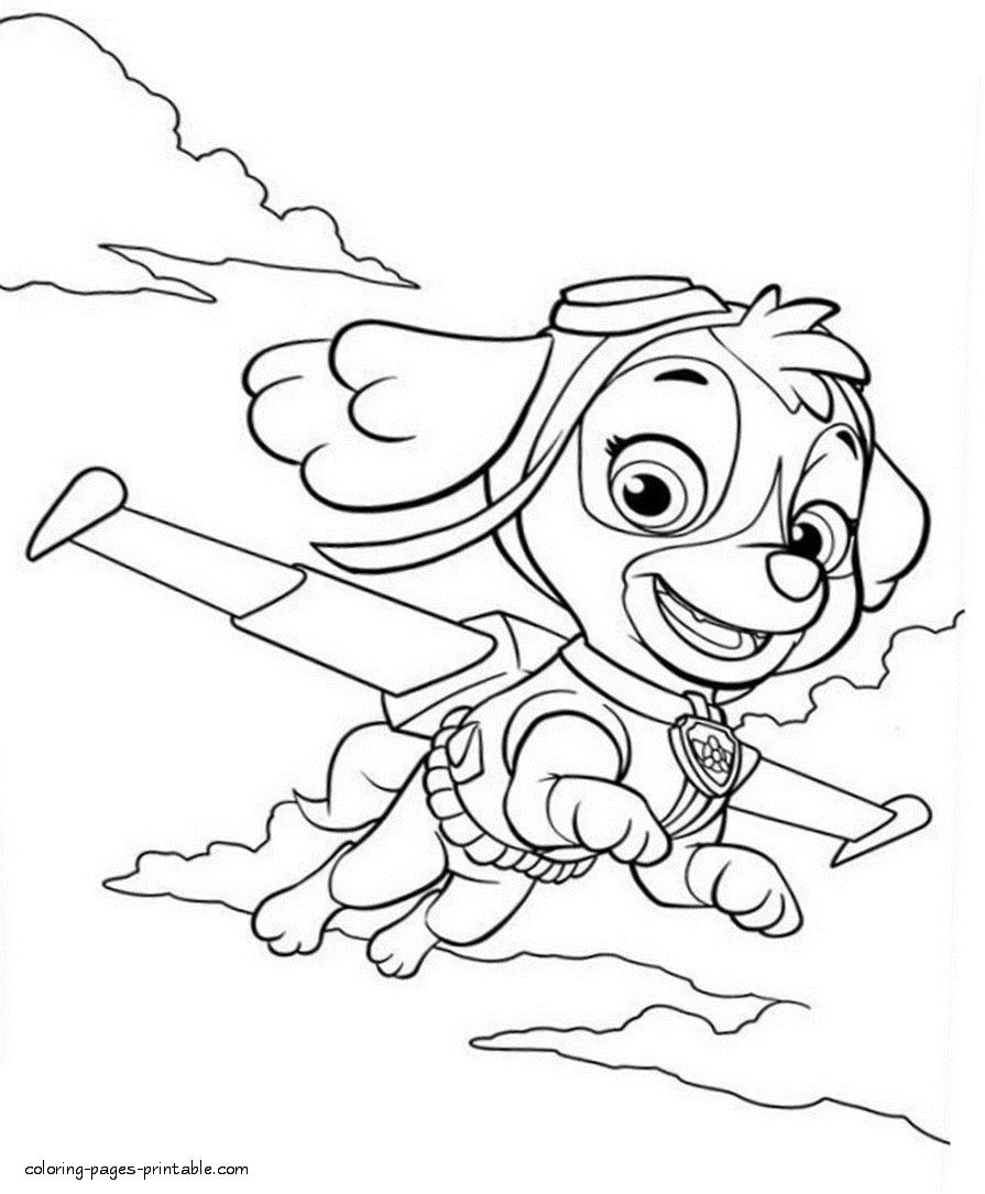 skye coloring pages - paw patrol coloring pages id=12