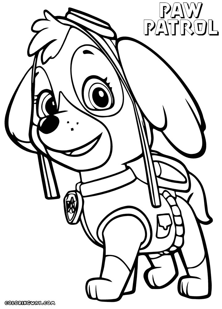 skye coloring pages - paw patrol coloring pages skye