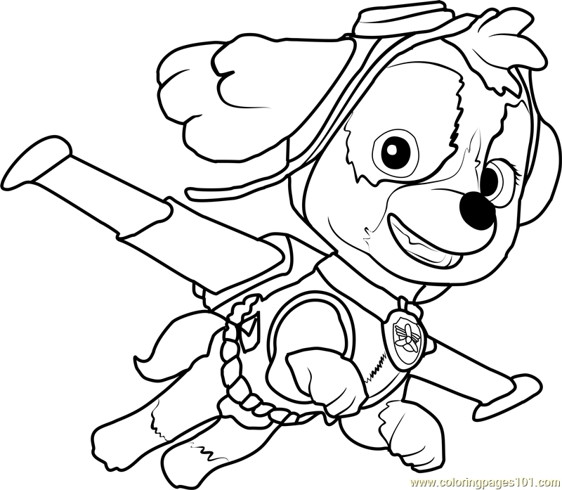 skye coloring pages - skye coloring page
