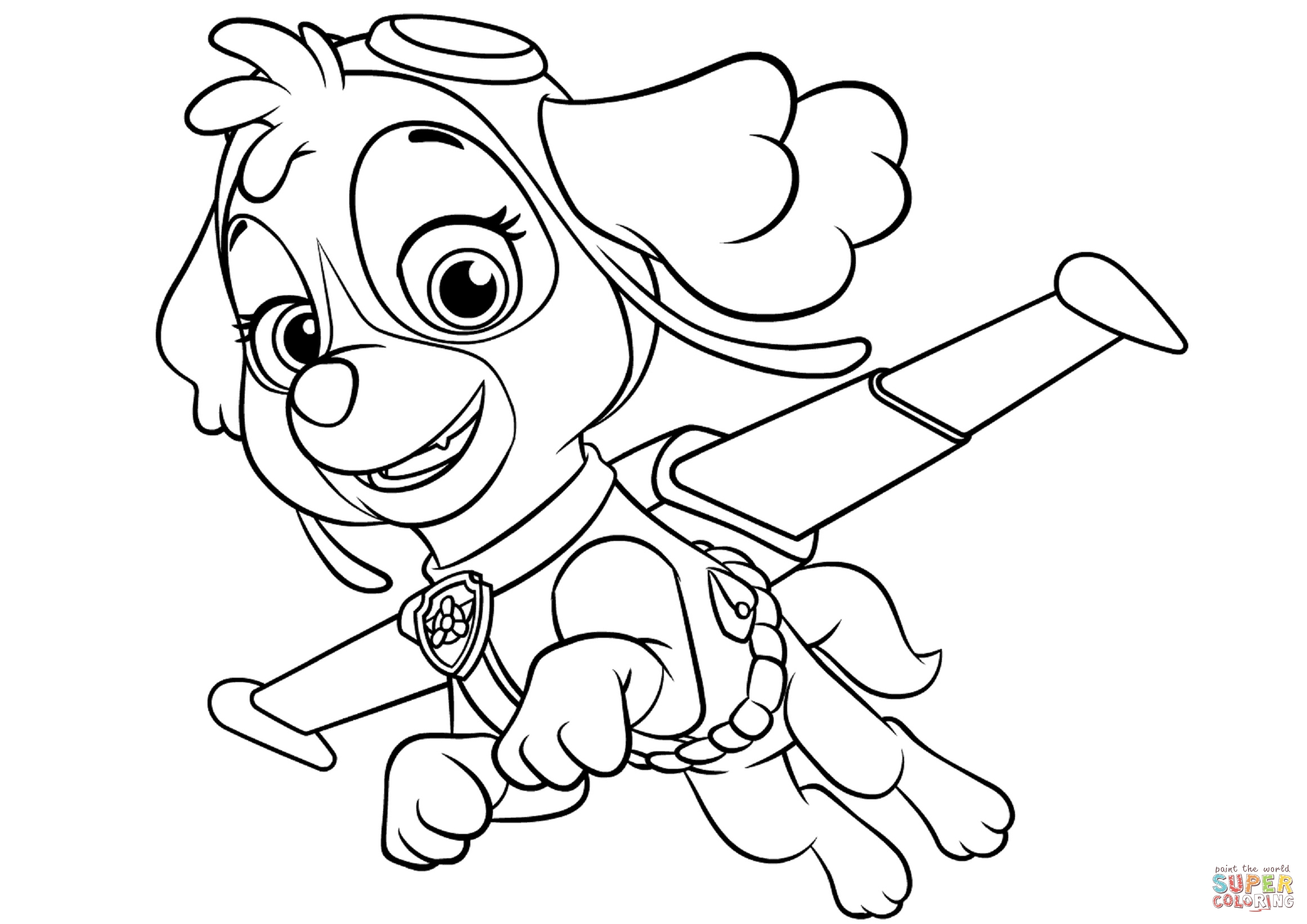 Skye Coloring Pages - Skye Flying Coloring Page