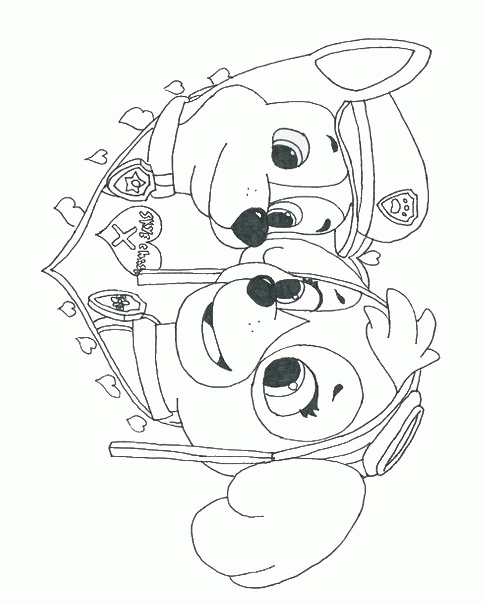 skye coloring pages - skye paw patrol coloring page