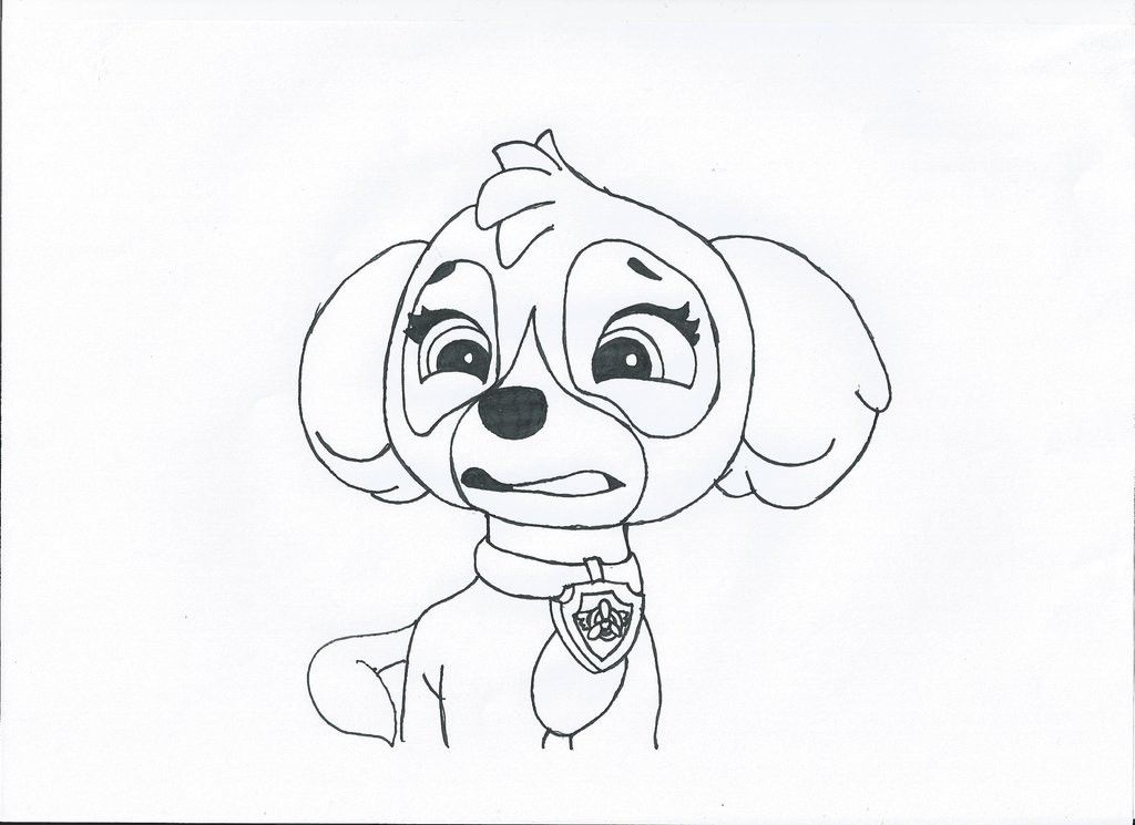 Skye Coloring Pages - Skye Paw Patrol Coloring Page Az Coloring Pages