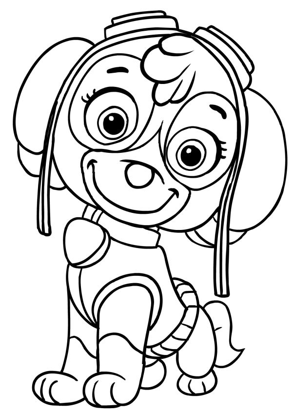 skye coloring pages - Skye