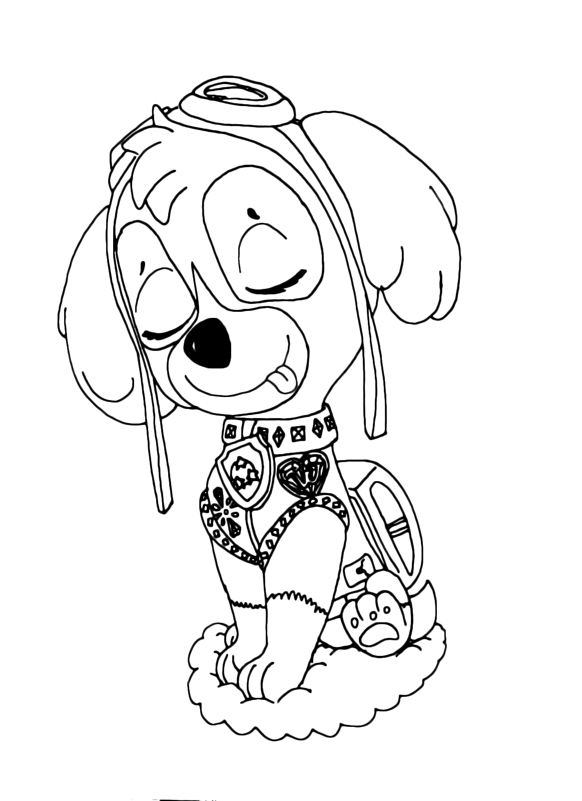 skye paw patrol coloring pages - the beautiful skye from the air rescue dog
