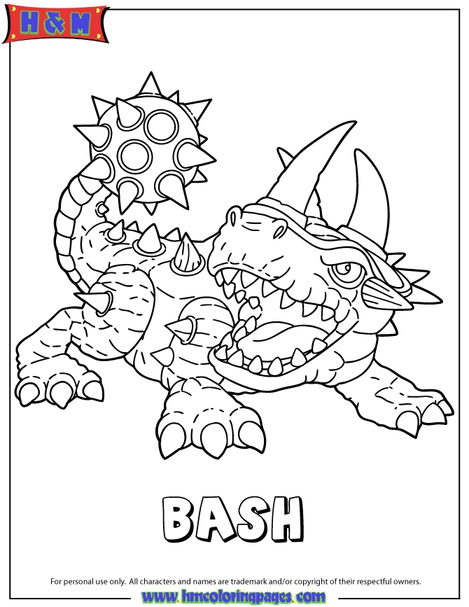 skylanders coloring pages - skylanders giants bash