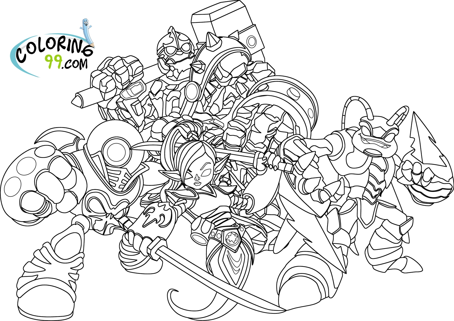 skylanders coloring pages - skylanders giants coloring pages