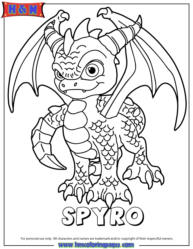 skylanders coloring pages - skylanders spyros adventure magic series1 spyro