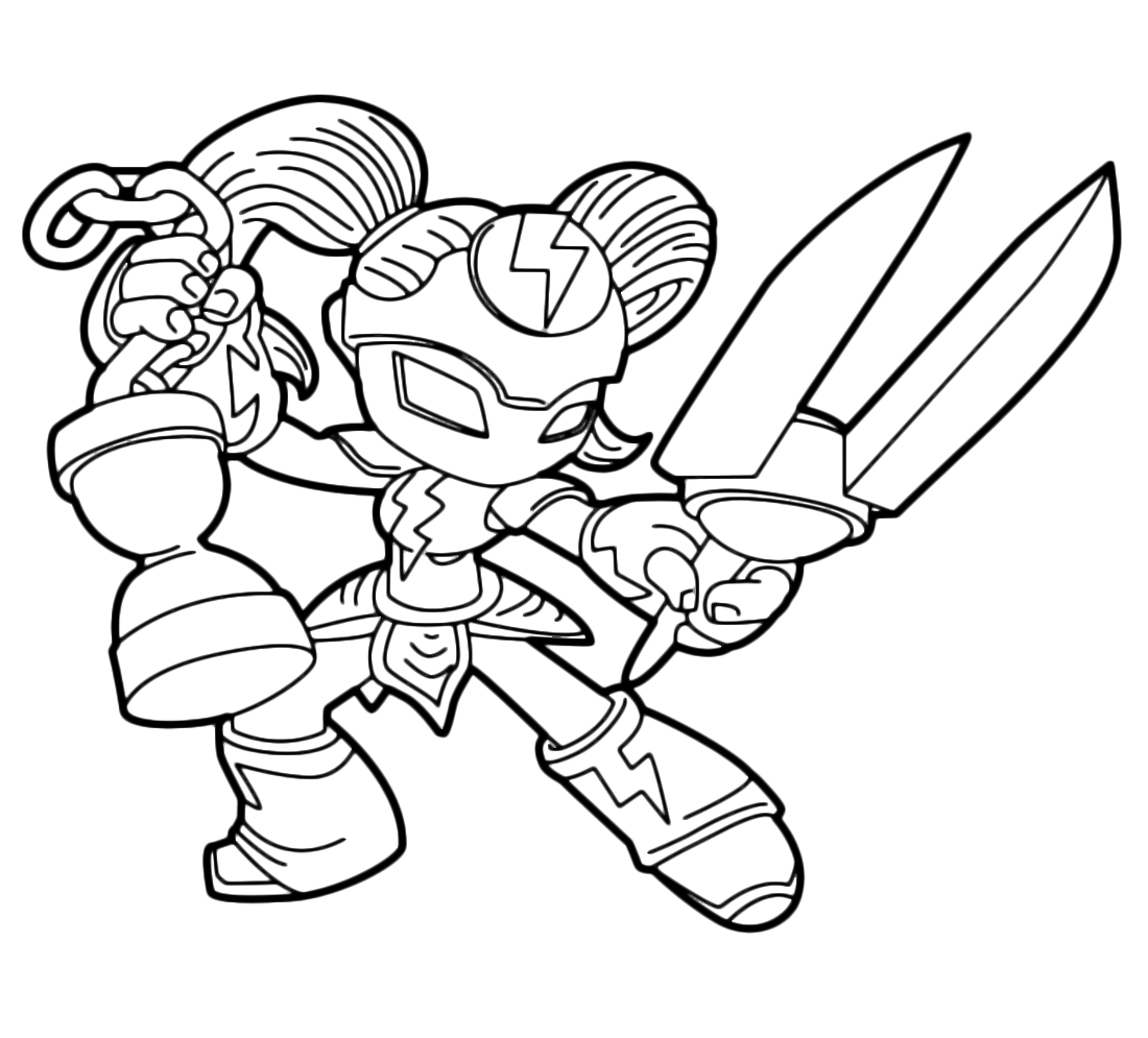 skylanders imaginators coloring pages - trap team deja vu diamoci un taglio