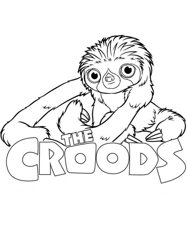 sloth coloring page -