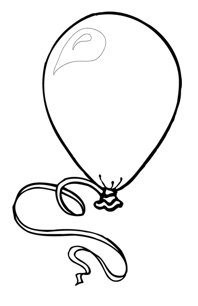 small coloring pages - balloons coloring pages for children