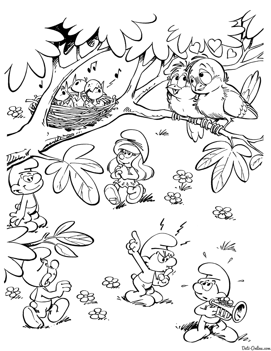 smurfs coloring pages - 1895