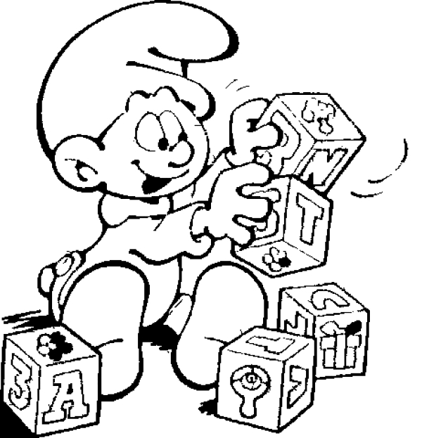 smurfs coloring pages - the smurfs