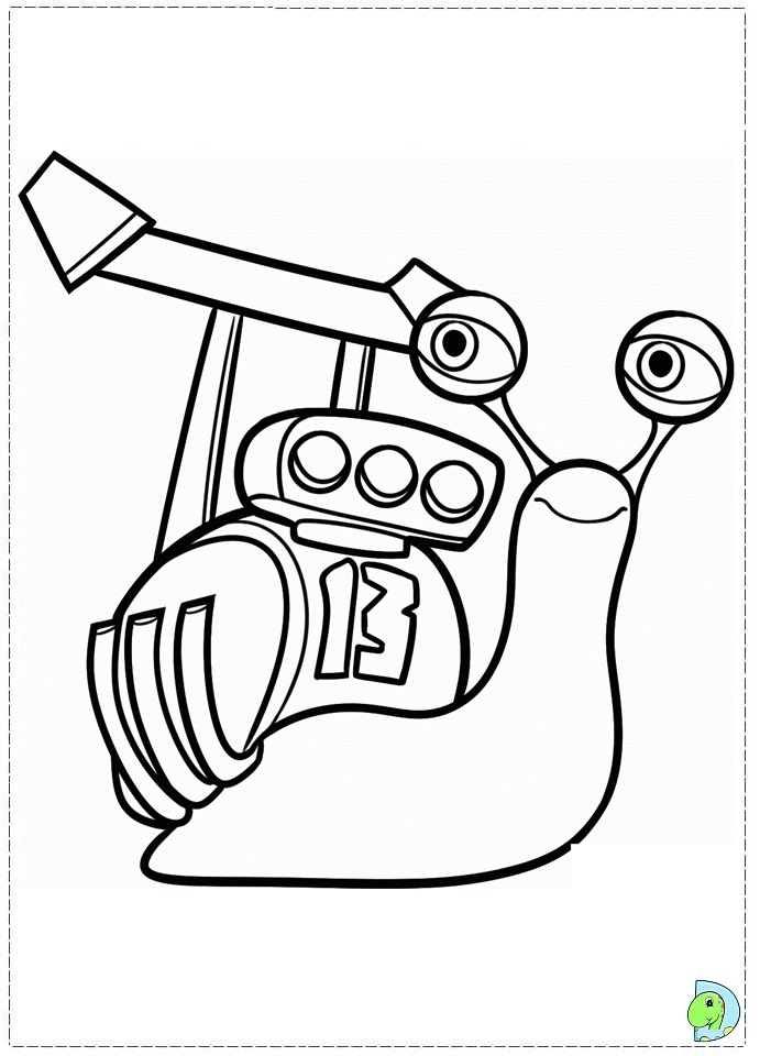 snail coloring page - 074 coloring turbo 07