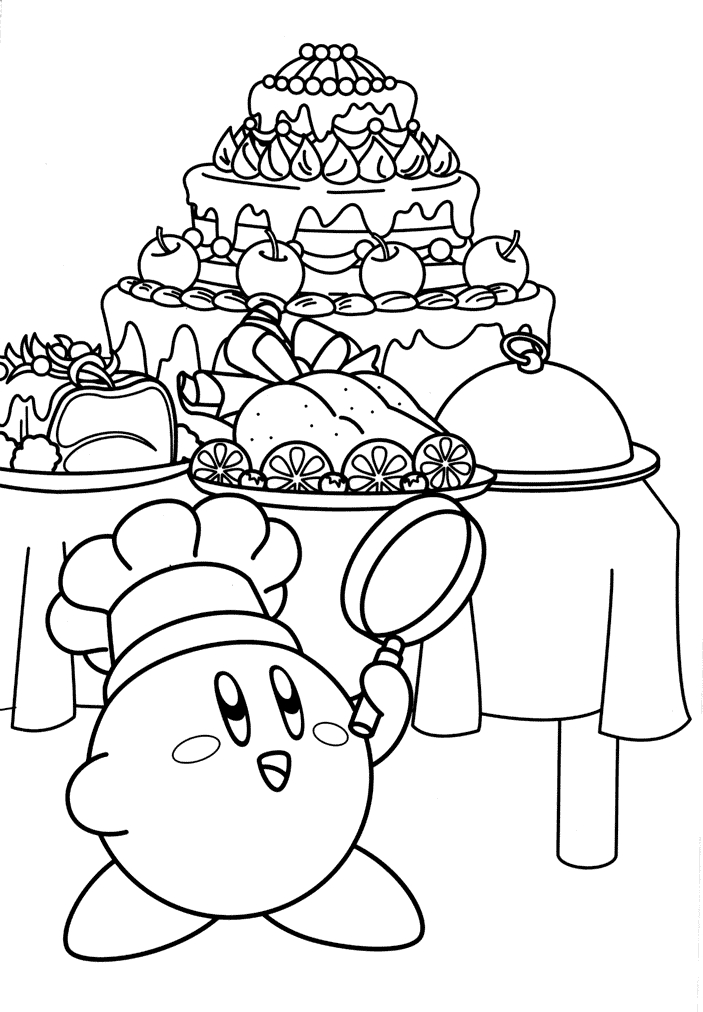 snake coloring pages - cute kirby coloring pages pictures