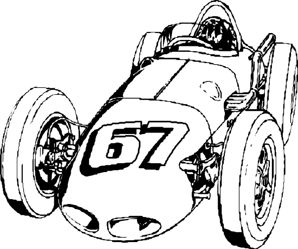 snake coloring pages - race cars coloring pages