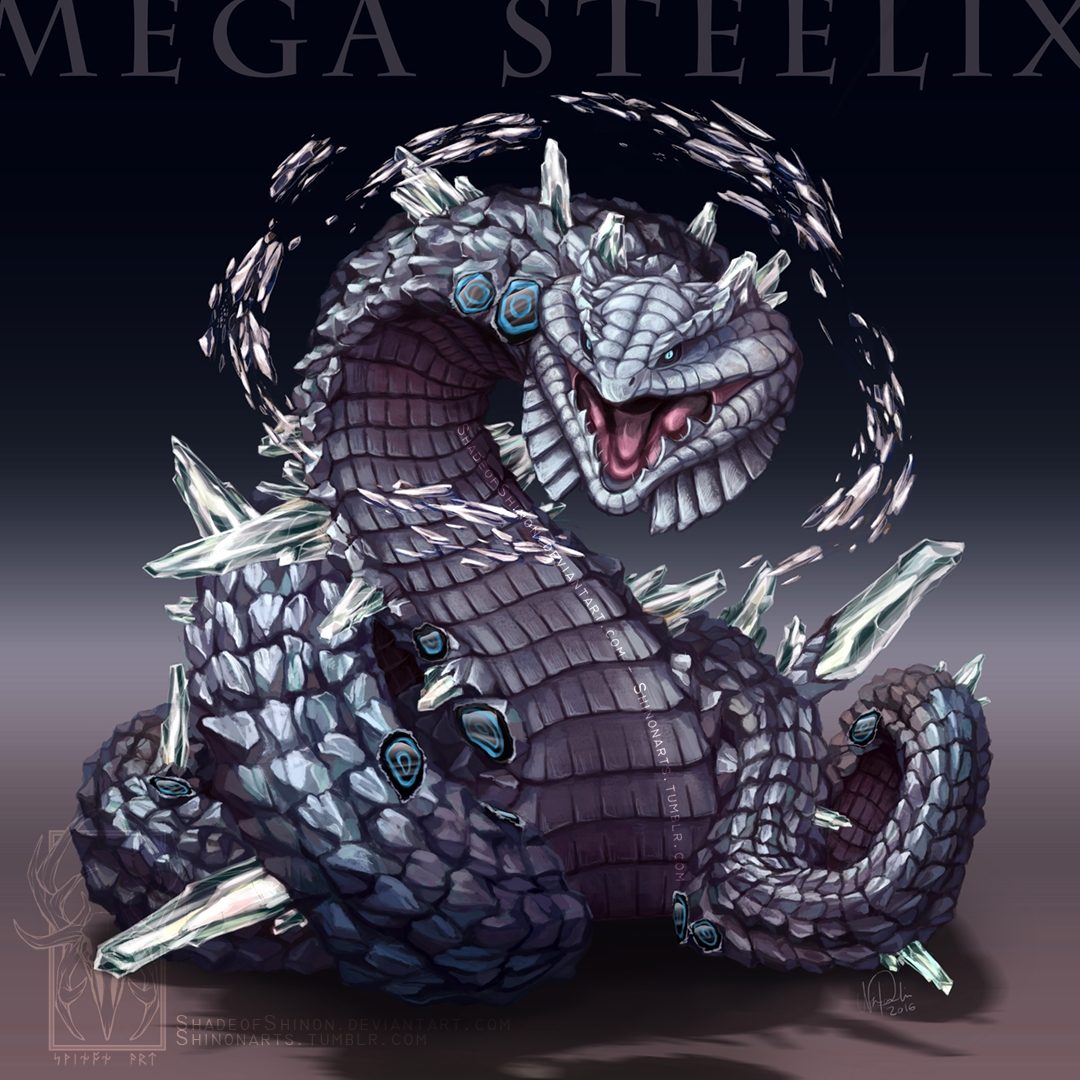 snake coloring pages - Type Collab Mega Steelix