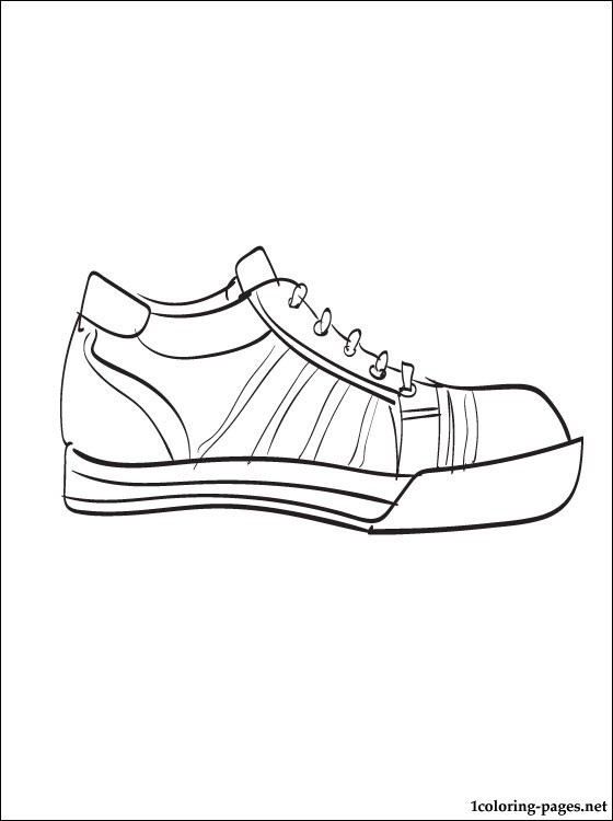 sneaker coloring page - converse sneaker coloring page sketch templates