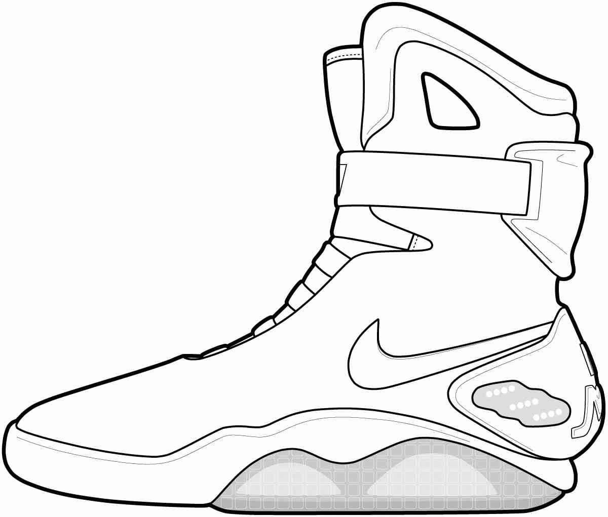 sneaker coloring page - jordan shoe coloring pages