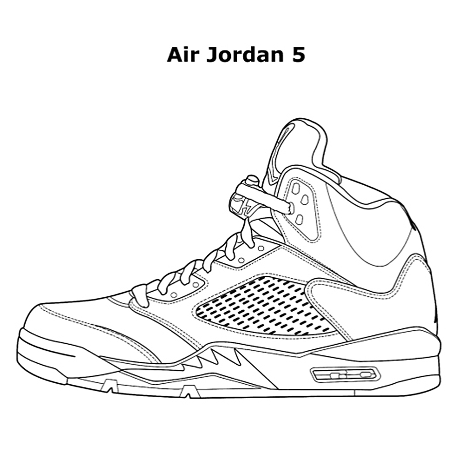 sneaker coloring page - shoes coloring pages