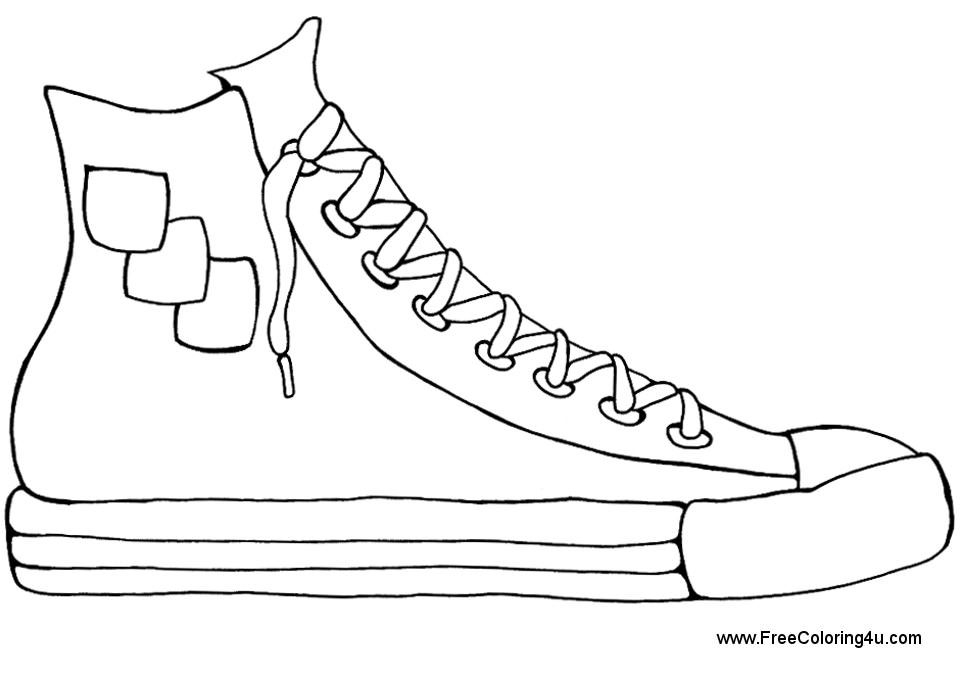 sneaker coloring page - shoes coloring pages print