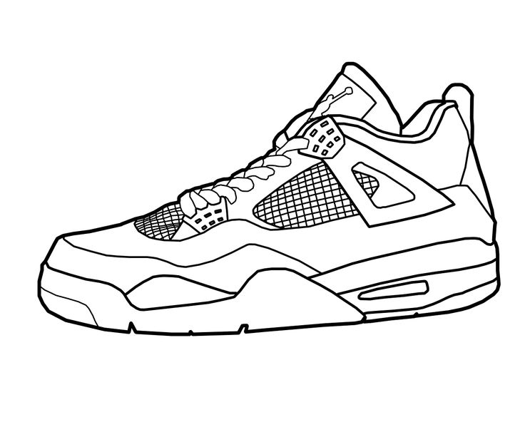 sneaker coloring page -