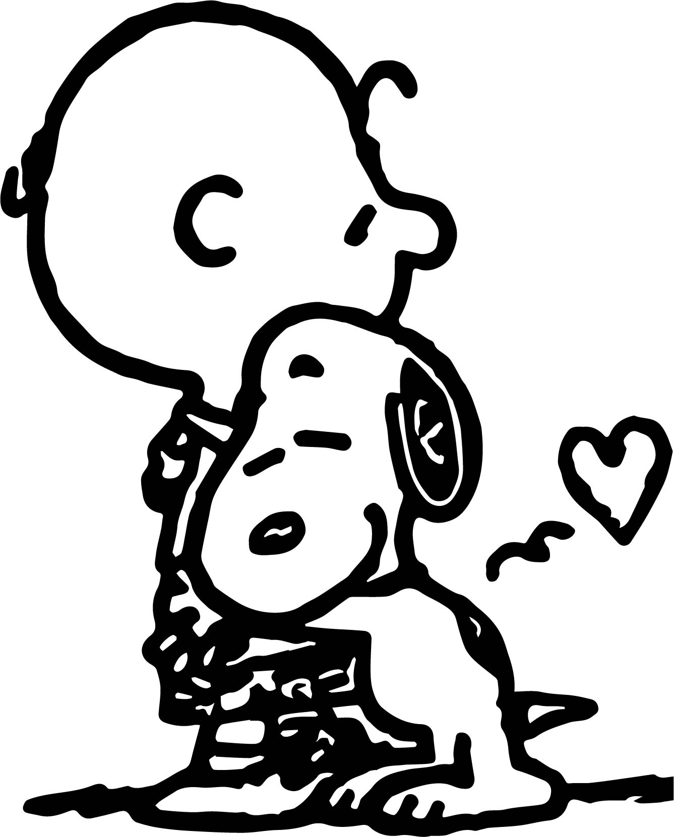 snoopy coloring pages - charlie brown snoopy coloring page